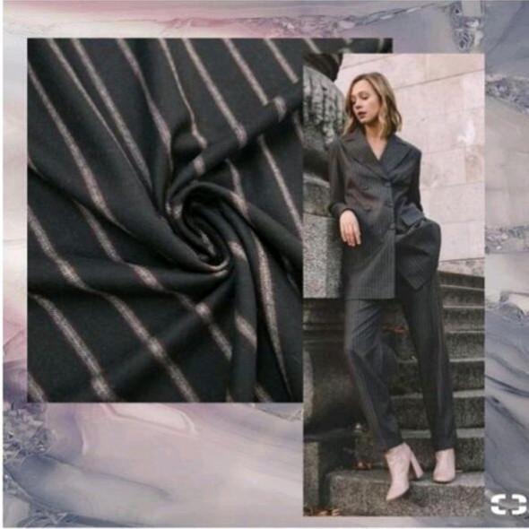 Ткань шерсть костюмная в полоску