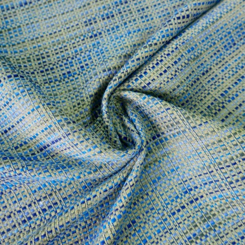 Бежево-голубой лёгкий твид