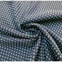 Ткань костюмная жаккардовая тёмно-синяя