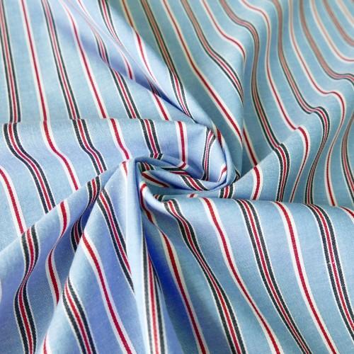 Ткань хлопок рубашечный в полоску