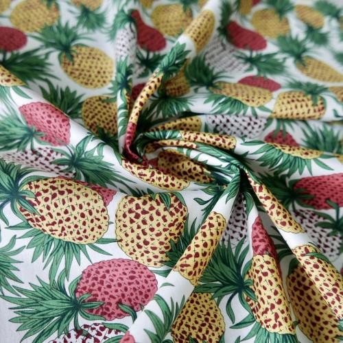 Хлопок 100% с принтом ананасы