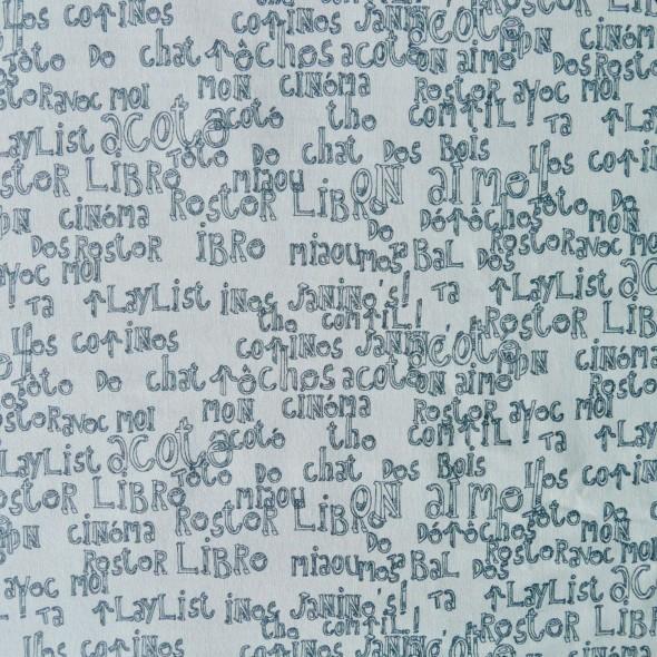 Ткань хлопок 100% с принтом надписи