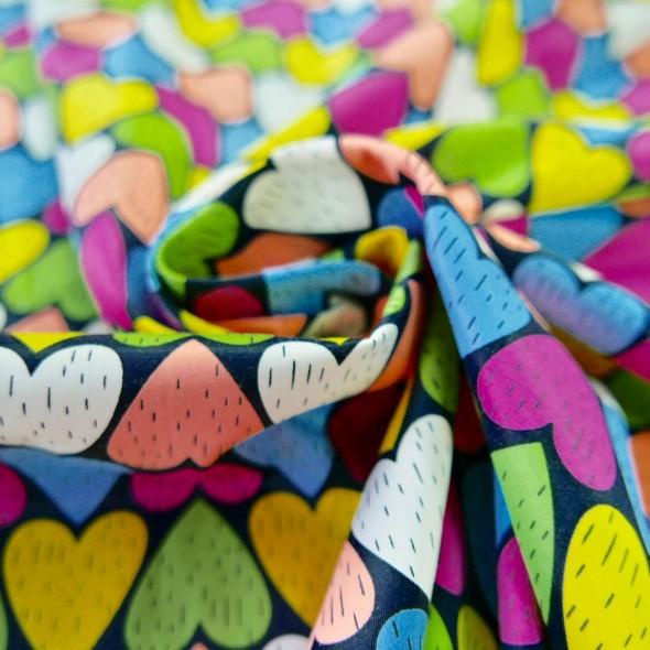Ткань хлопок сатин с ярким принтом