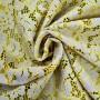 Ткань кружево серо-бежевое с горчицей