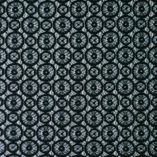 Кружево чёрное с геометрическим рисунком