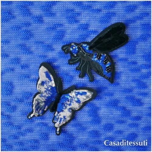 Нашивка бабочка из пайеток