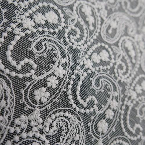 Ткань белое кружево с хлопоком