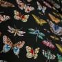 Шелк натуральный с принтом бабочки