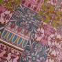 Ткань хлопок в розовых тонах с принтом пэчворк