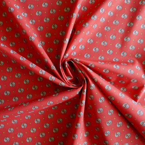 Ткань хлопок рубашечный с принтом пейсли