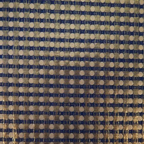 Жаккард хлопковый в горошек с золотистым напылением