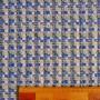 Твид меланжевый серо-молочный с синим