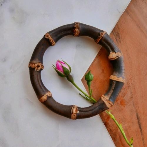 Круглая бамбуковая рамка для декорирования одежды
