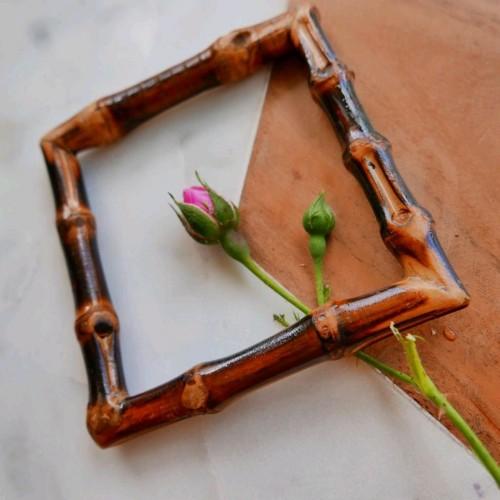 Квадратная бамбуковая рамка для декорирования одежды