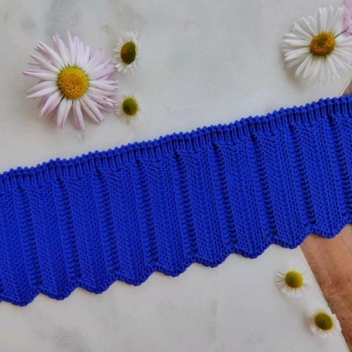 Подвязы хлопковые ажурные для отделки (Артикул: 119)