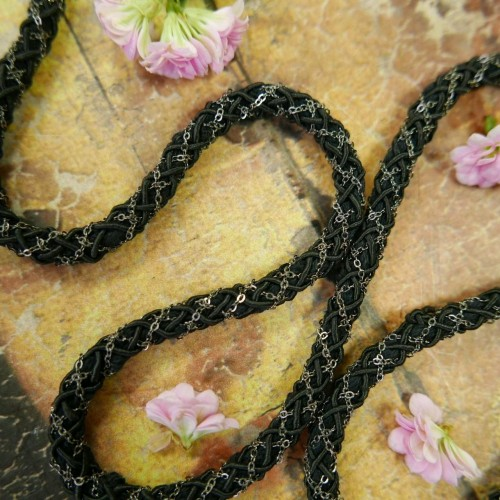 Шнуры: Шнур декоративный с цепочкой