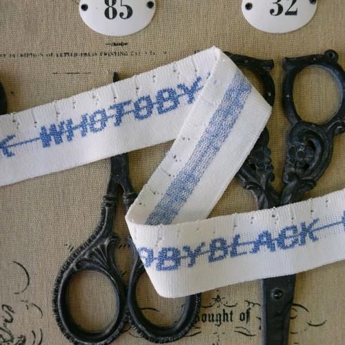 Подвязы трикотажные со спущенными петлями и надписями