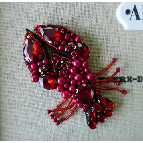 Нашивки для одежды с бисером, крупными камнями и жемчугом