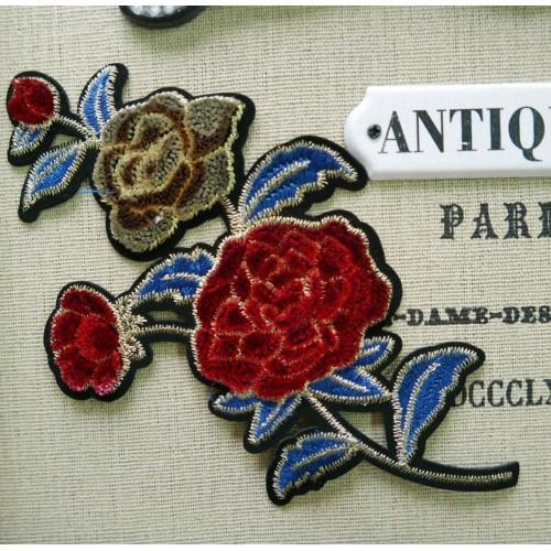 Нашивки для одежды бархатные розы