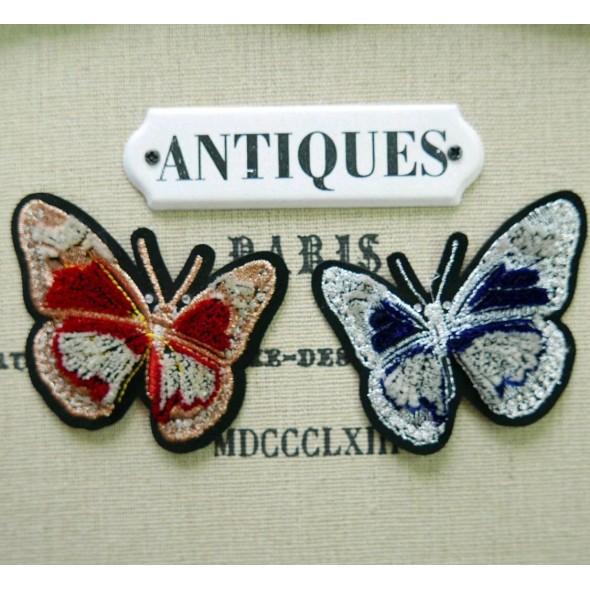Нашивки бархатные для одежды бабочки
