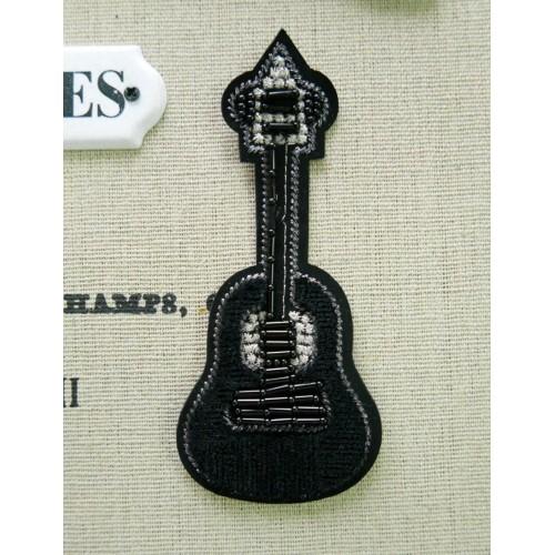 Нашивки бархатные для одежды гитары
