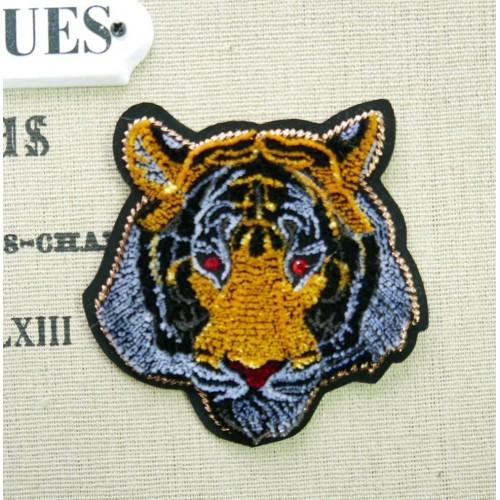 Нашивка для одежды тигр