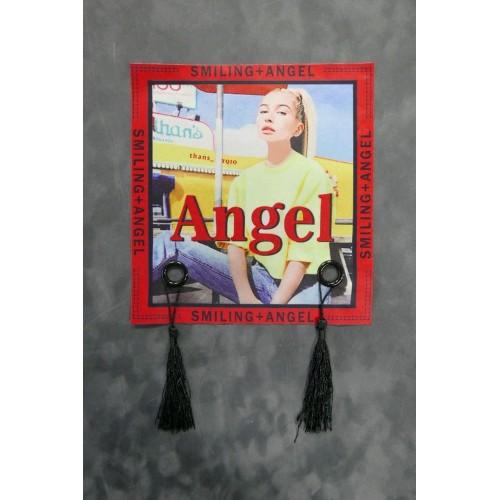 Нашивка текстильная с кисточками Angel