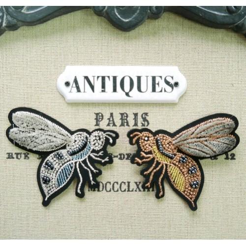 Аксессуары: Нашивки пчёлки с бисером