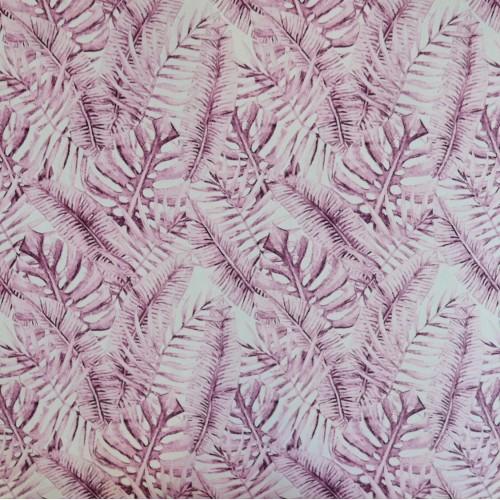 Ткань легкая плательная с принтом на белом фоне