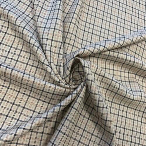 Ткань костюмная в клетку без эластана