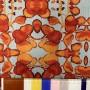 Ткань шифон жатый с ярким растительным принтом
