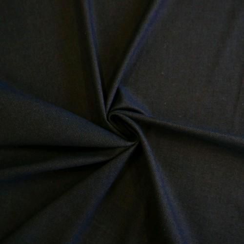 Ткань костюмная тёмно-синяя меланжевая