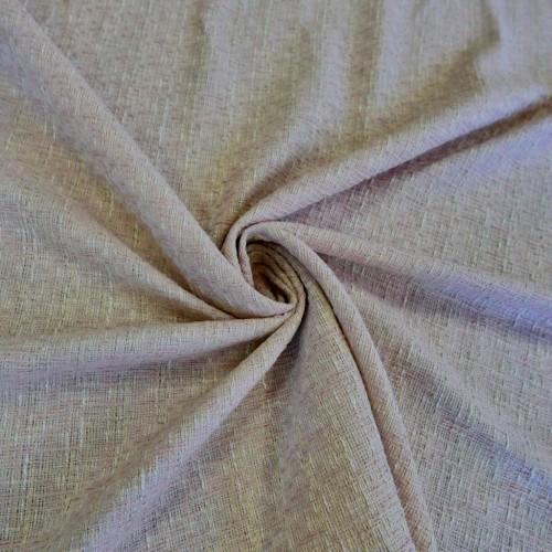 Ткань твид хлопковый нежно-розовый меланжевый