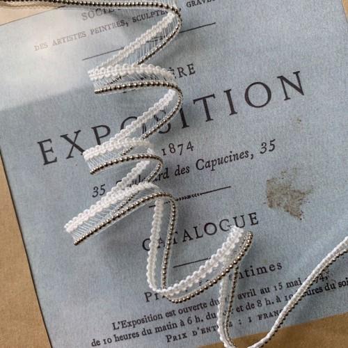Тесьма декоративная нежная прозрачная с цепочкой-шариками