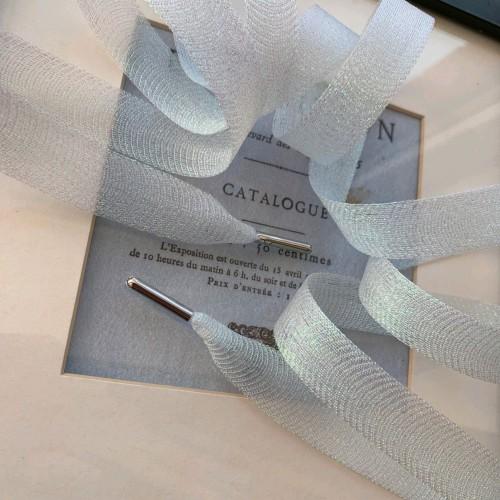 Шнурки прозрачные белые для декорирования одежды
