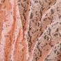 Ткань кружево персиково-розовое с фестонным краем