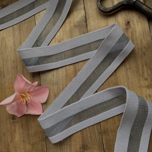 Трикотажные подвязы прозрачные,спокойного серого оттенка