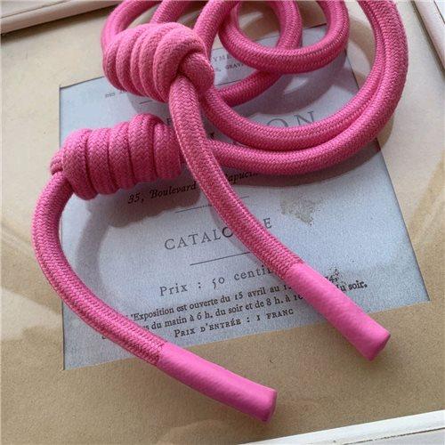 Шнурки объемные с декоративными узлами и прорезиненными наконечниками