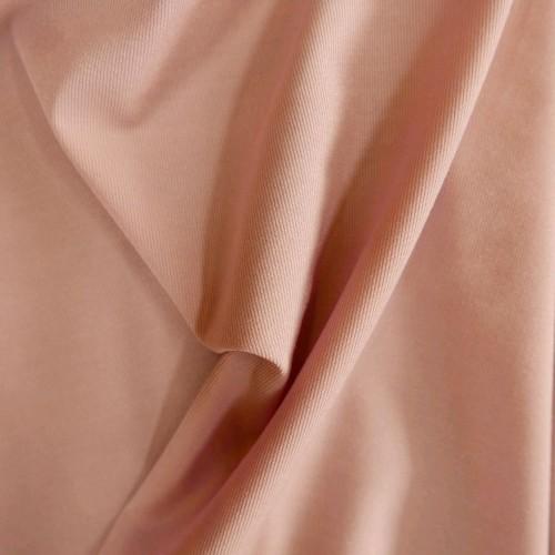 Ткань хлопок эластичный плательный нежно-розовый