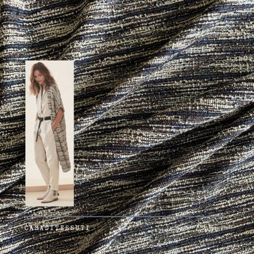 Трикотаж букле меланжевый с нитями бронзового люрекса