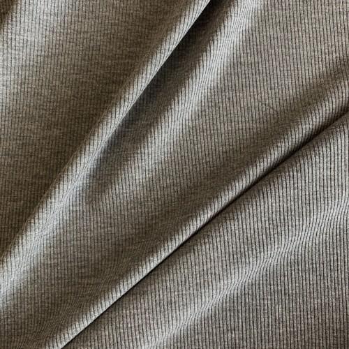 Трикотажное полотно рибана меланжевый серый