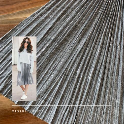 Гофрированные детали для юбки серый мелажевый трикотаж