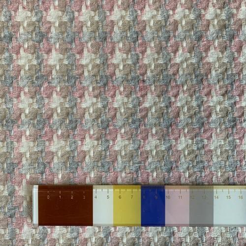 Ткань твид с шерстью в составе в пастельных тонах