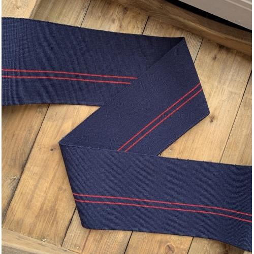 Подвязы трикотажные темно-синие с красными полосками