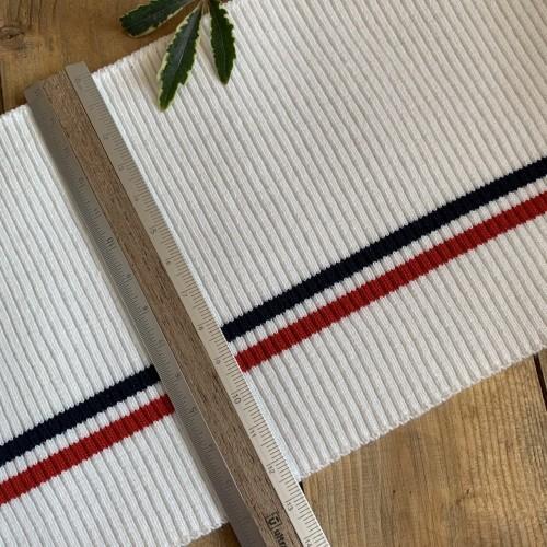 Подвязы трикотажные белые с красной и синей полосками