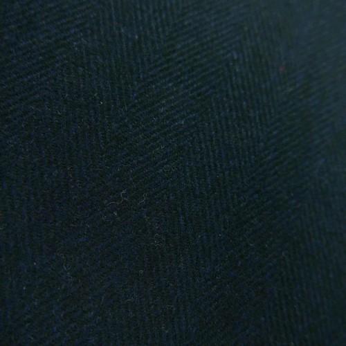 Ткань шерсть тёмно-синяя елочка