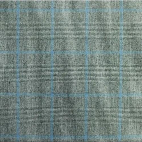 Ткань костюмная шерсть с вискозой в клетку
