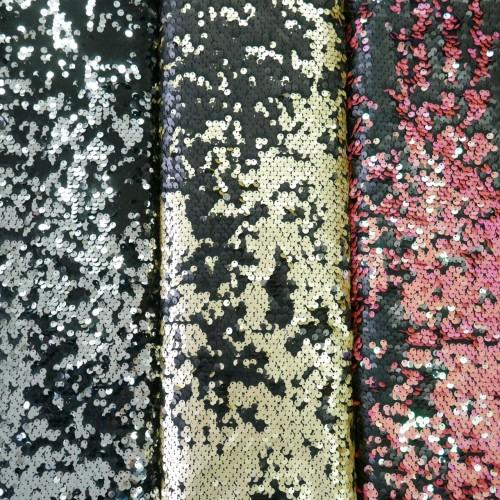 Ткань пайетки на основе из сетки